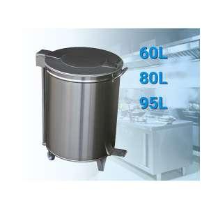 RVS Afvalbak 60, 80 of 95 liter