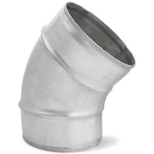 Bocht 45º graden voor spirobuis Ø 250mm - geperst
