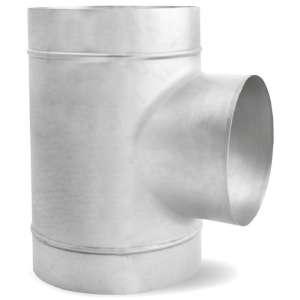 T-stuk voor spirobuis ∅ 400mm met aftakking ∅ 355mm - 90 graden