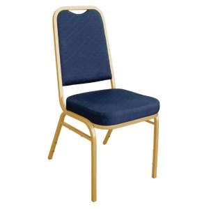 Bolero banketstoel met vierkante rugleuning blauw | 4 stuks