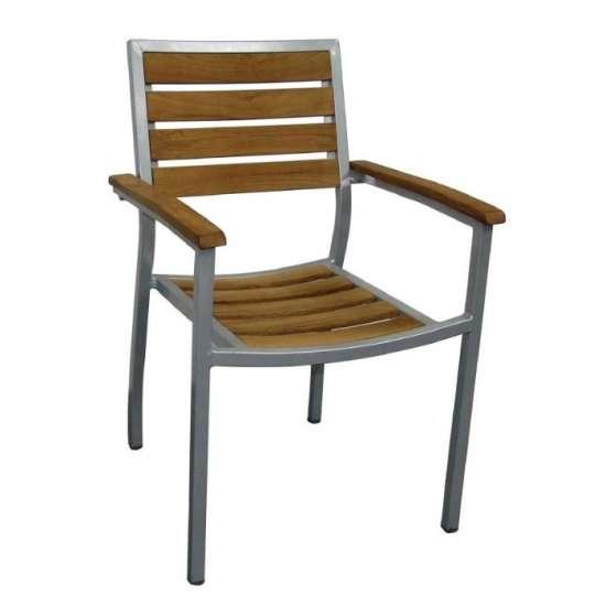 Bolero aluminium en teak stoel (4 stuks)