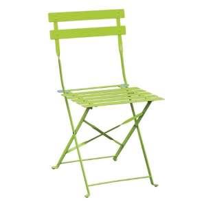 Bolero stalen opklapbare stoel groen