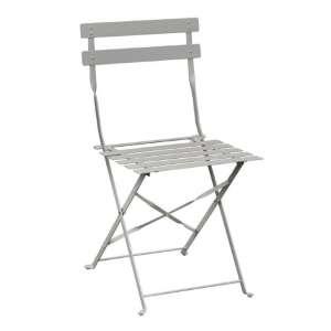 Bolero stalen opklapbare stoel licht grijs