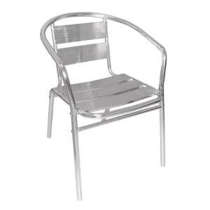 Bolero stapelbare aluminium stoel met armleuning (4 stuks)