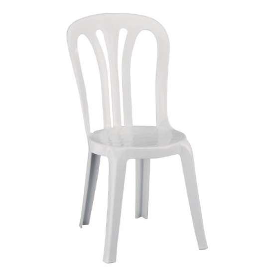 Resol multifunctionele stapelbare stoelen wit (6 stuks)