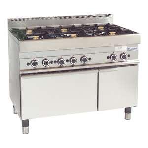 Gasfornuis Gas Oven 6 Branders Kast