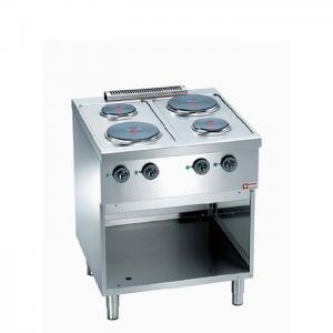 Elektrisch fornuis 4 platen, op elektrische oven GN 2/1