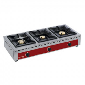 Brander, tafelmodel - 3 branders (7+5+7 kW)
