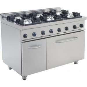 Gasfornuis Elektrische Oven 6 Branders