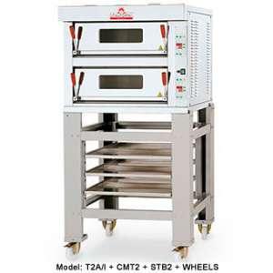 Pizzaoven Italforni Model TK C-2 Elektro 99x99 Inox