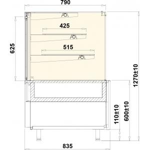 Gebaksvitrine Cube Neutraal 1310 mm