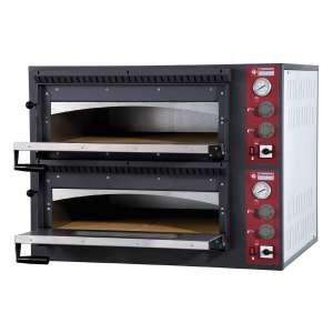 Elektrische oven 2x 4 pizza's, 2 kamers