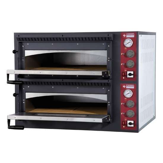 Elektrische oven 2x 6 pizza's, 2 kamers