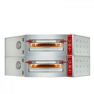 Elektrische hoekoven, 2 kamers, 2x 8 pizza's Ø 350 mm