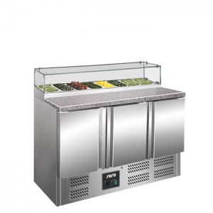 SARO Pizzawerkbank met glasvitrine Model PS 300 G