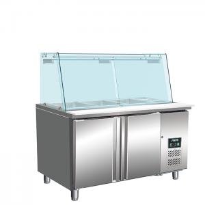 SARO Saladette met glazen opzetstuk model SG 2070