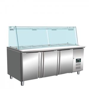 SARO Koelwerkbank met glazen top Model SG 3070