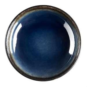 Olympia Nomi ronde tapasdipschaaltjes blauw-zwart 9,5cm