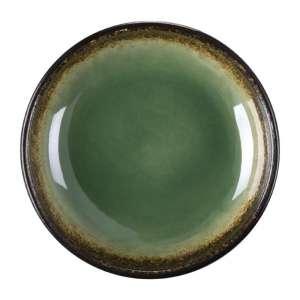 Olympia Nomi ronde tapasdipschaaltjes groen-zwart 9,5cm