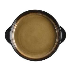 Olympia Nomi ronde tapasschalen geel-zwart 19cm