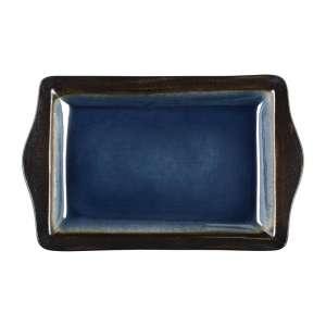 Olympia Nomi rechthoekige tapasschalen blauw-zwart 28,3 x 17,8cm