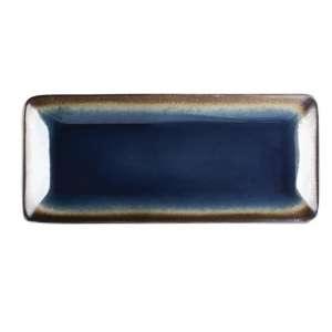 Olympia Nomi rechthoekige tapasborden blauw-zwart 24,5 x 11cm