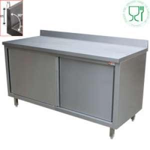 Neutraal werktafelkast met schuifdeuren TA107/B